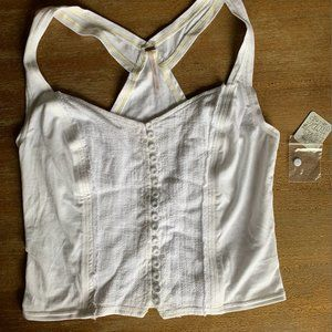 Free People NWT Crop Button Top LG